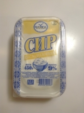 Творог кисломолочный 9%, 0,45 кг